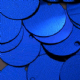 CLEARANCE  Massive XXXL 150mm Second Quality Metallic Cobalt Blue Sequins x 10.  BUY 1 GET 1 FREE